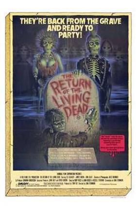 Framed Return of the Living Dead Print