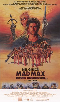 Framed Mad Max Beyond Thunderdome Cast Print