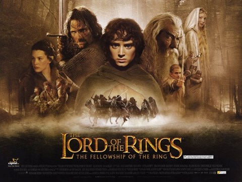 Framed Lord of the Rings: Fellowship of the Ring Print