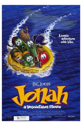 Framed Jonah: a Veggietales Movie Print