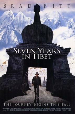Framed Seven Years in Tibet Print