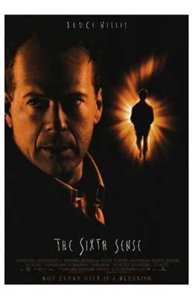 Framed Sixth Sense Bruce Willis Print