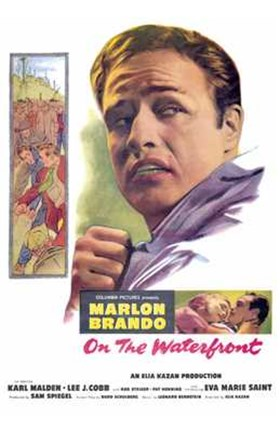 Framed on the Waterfront Marlon Brando Print