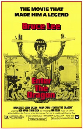 Framed Enter the Dragon Yellow Print