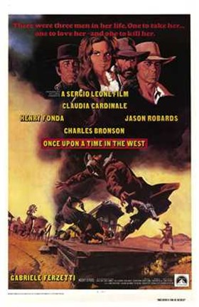 Framed Once Upon a Time in the West Charles Bronson Print