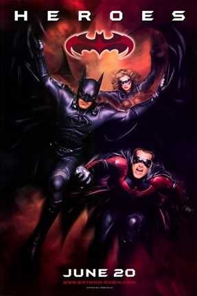 Framed Batman and Robin Heroes Print