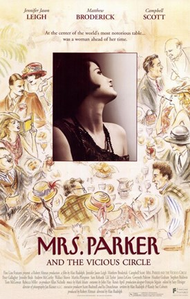 Framed Mrs Parker and the Vicious Circle Print
