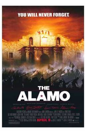 Framed Alamo You Will Never Forget Print