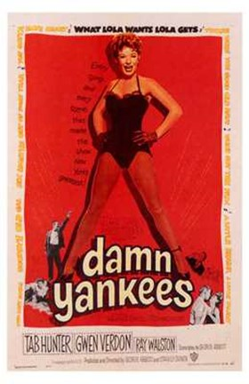 Framed Damn Yankees! Print