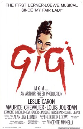 Framed Gigi The Musical Print