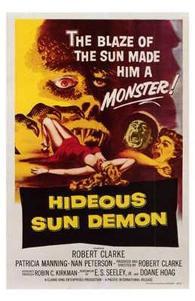 Framed Hideous Sun Demon Print