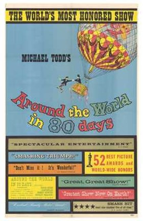 Framed Around the World in 80 Days Michael Todd Print