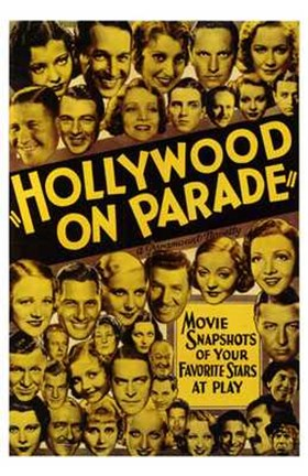 Framed Hollywood on Parade Print