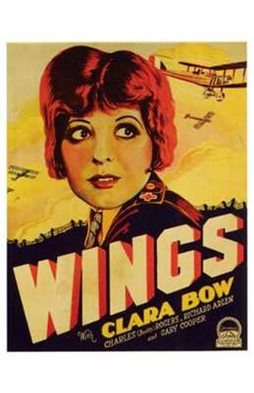 Framed Wings - Clara Bow Print