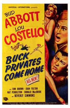 Framed Abbott and Costello, Buck Privates Come Home, c.1947 Print