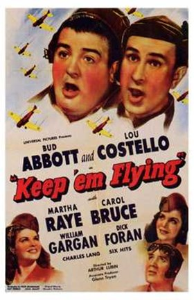 Framed Abbott and Costello, Keep 'Em Flying, c.1941 Print