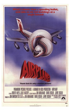 Framed Airplane (movie poster) Print