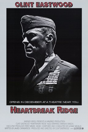 Framed Heartbreak Ridge Officer Print