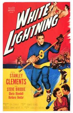 Framed White Lightning Stanley Clements Print