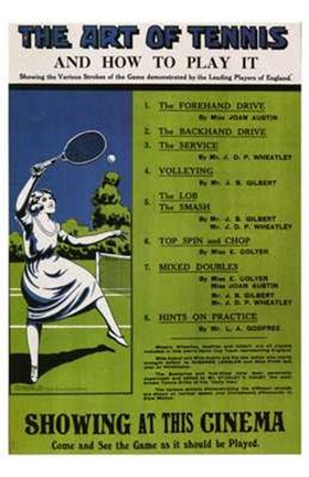 Framed Art of Tennis and How to Play It Print