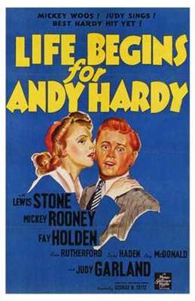 Framed Life Begins for Andy Hardy Print