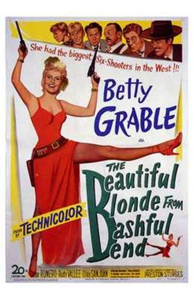 Framed Beautiful Blonde from Bashful Bend Print