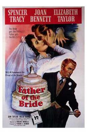 Framed Father of the Bride Spencer Tracy Print