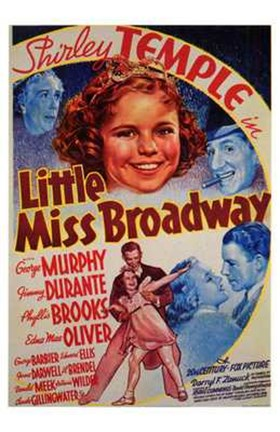 Framed Little Miss Broadway Print