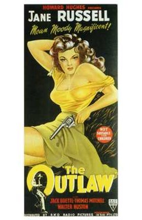 Framed Outlaw Jane Russell Print