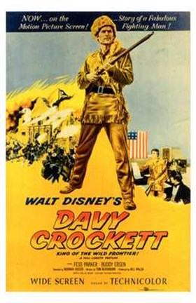 Framed Davy Crockett Print
