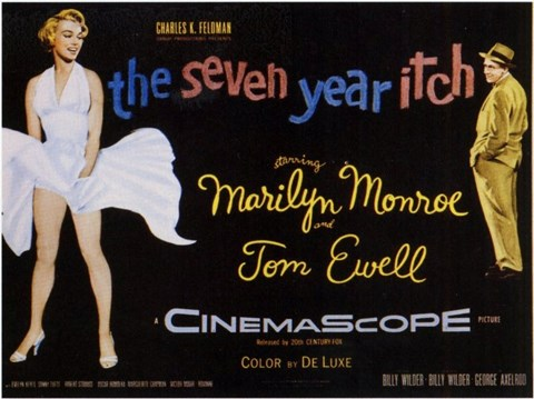 Framed Seven Year Itch - style D, c.1955 Print