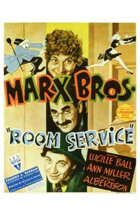 Framed Room Service Marx Brothers Print
