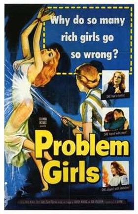 Framed Problem Girls Print