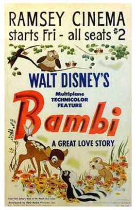 Framed Bambi A Great Love Story Print