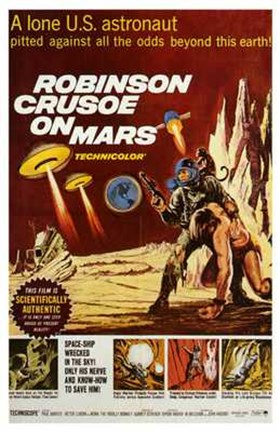 Framed Robinson Crusoe on Mars Print