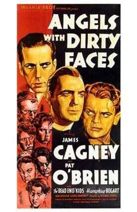 Framed Angels with Dirty Faces Cagney & O'Brien Print
