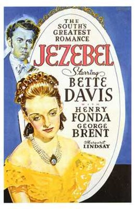 Framed Jezebel - Bette Davis Print