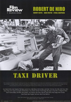 Framed Taxi Driver Shooting Print