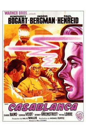 Framed Casablanca Warner Brothers Print