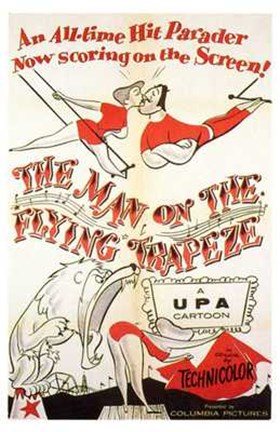Framed Man on the Flying Trapeze Print