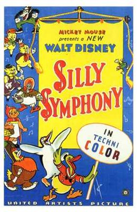 Framed Silly Symphony Walt Disney Print