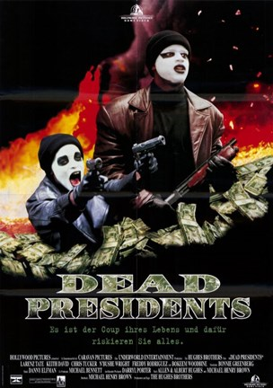 Framed Dead Presidents Money and Robbers Print