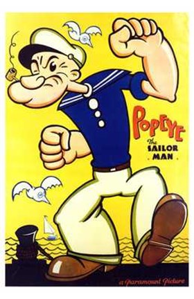 Framed Popeye the Sailor Man Print