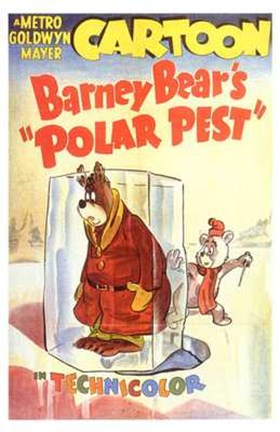 Framed Barney Bear's Polar Pest Print