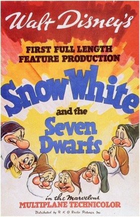 Framed Snow White and the Seven Dwarfs 1st Full Length Print