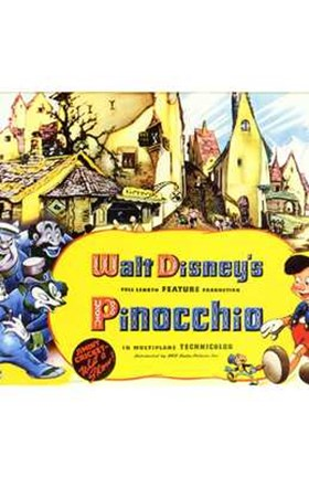 Framed Pinocchio Town Print