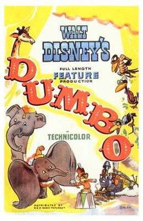 Framed Dumbo Drawing Print