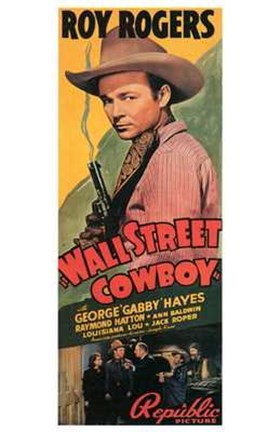 Framed Wall Street Cowboy - smoking gun Print