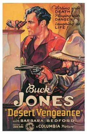Framed Desert Vengeance - Buck Jones Print