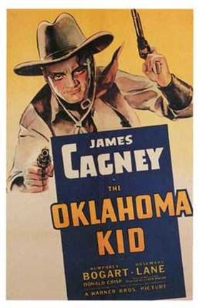 Framed Oklahoma Kid James Cagney Print